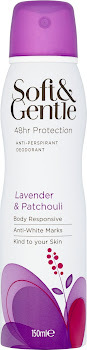 Soft and Gentle 48hr Protection Anti-Perspirant Deodorant - Lavender and Patchouli, 150ml