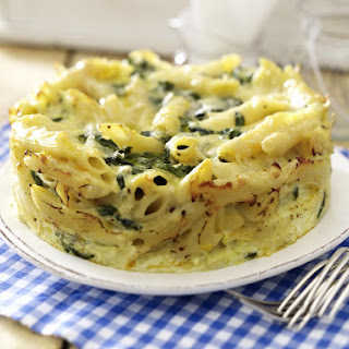 Baked Penne with Spinach and Ricotta.