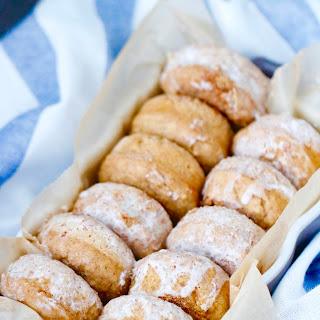 Mini Maple Cinnamon Pancake Donuts.