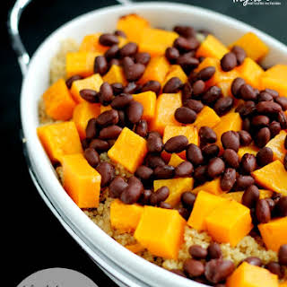 Black Beans, Roasted Butternut Squash and Quinoa.