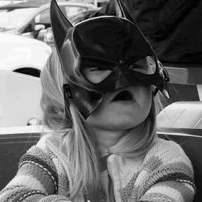 Little batgirl  by Jack Gregory - Black & White Portraits & People