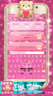 Růžový klávesnice témata - náhled