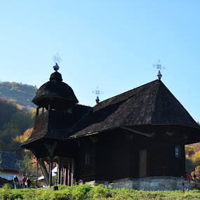 Wooden church by Alina Vicu - Novices Only Landscapes ( wooden, church, skete, oak, hermitage,  )