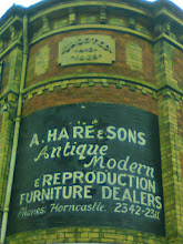 Photo: The era before 52 was added to all Horncastle phone numbers..Hare's antiques, a former canal wharf warehouse.