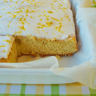 Lemon Cake With Icing Coverage Of Real.