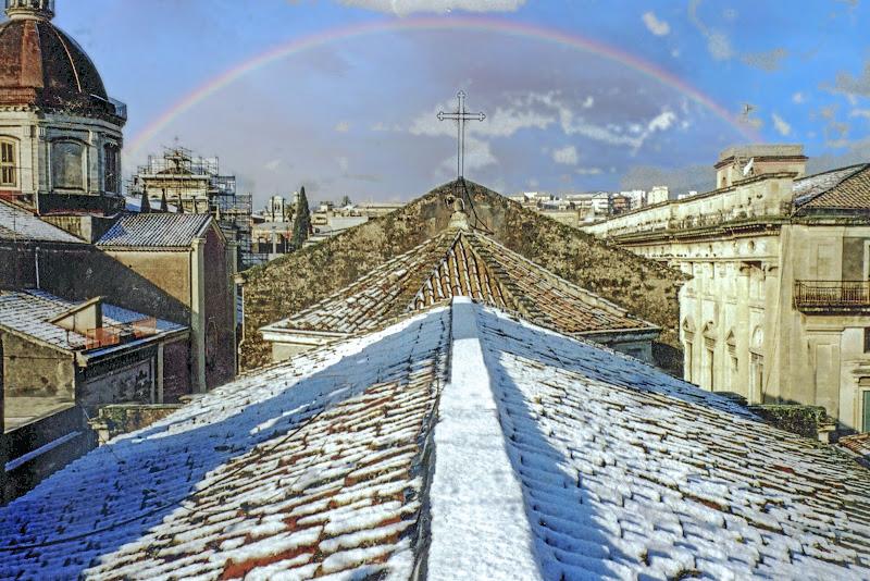 Rarissima e suggestiva nevicata ad Acireale di lugiube