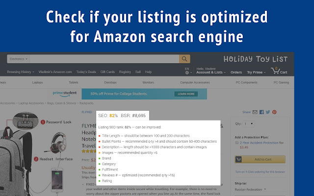 Amazon SEO Assistant