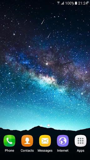 星の夜ライブ壁紙