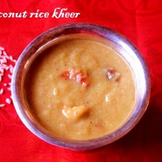 Coconut And Rice Kheer (thengai Arisi Payasam)
