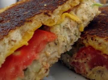 Pesto Tunafish Melt Sandwich