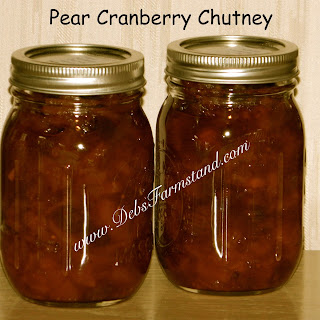 Pear Cranberry Chutney