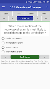 Download Anatomy & Physiology Textbook , MCQ & Test Bank APK latest