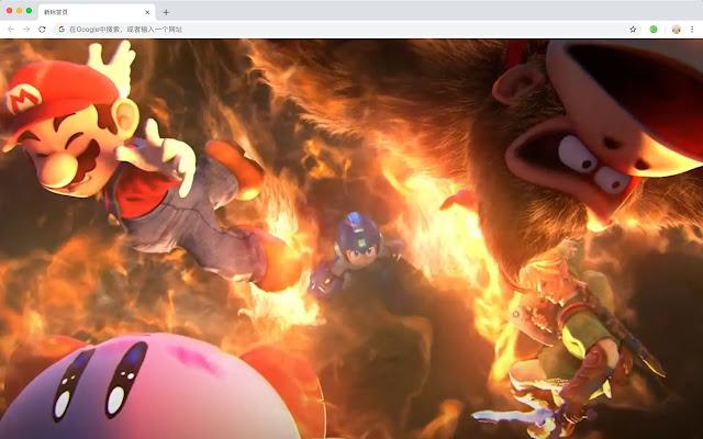 Nintendo games HD New tab page Theme