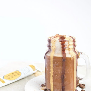 Homemade Chocolate Peanut Butter Latte.