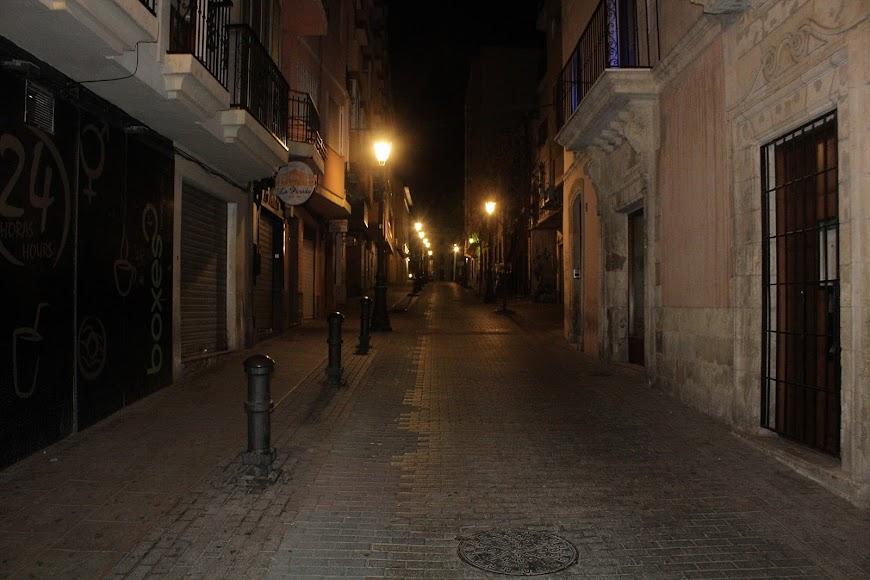 La calle Eduardo Pérez, junto a las Cuatro Calles.