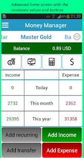 Money Manager - náhled