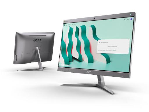Acer Chromebase for Google Meet front and back