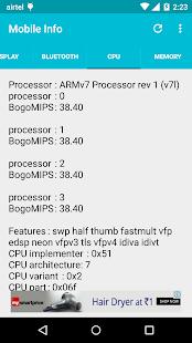 Mobile Information screenshot