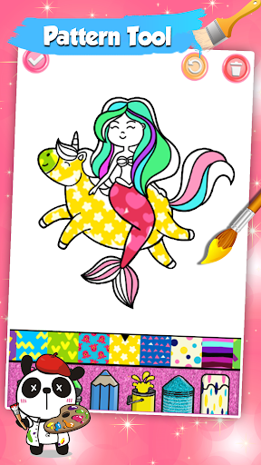 Mermaid Coloring Pages Glitter 1.0 screenshots 13