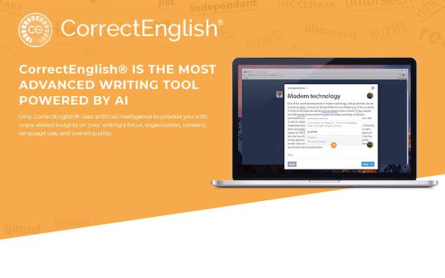 CorrectEnglish para navegador m de Internet