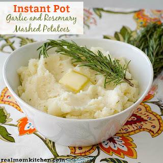 Instant Pot Garlic and Rosemary Mashed Potatoes.