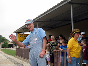 Photo: Brent Muecke, station agent, and Virginia Freitag, Station Master.   HALS 2009-0918