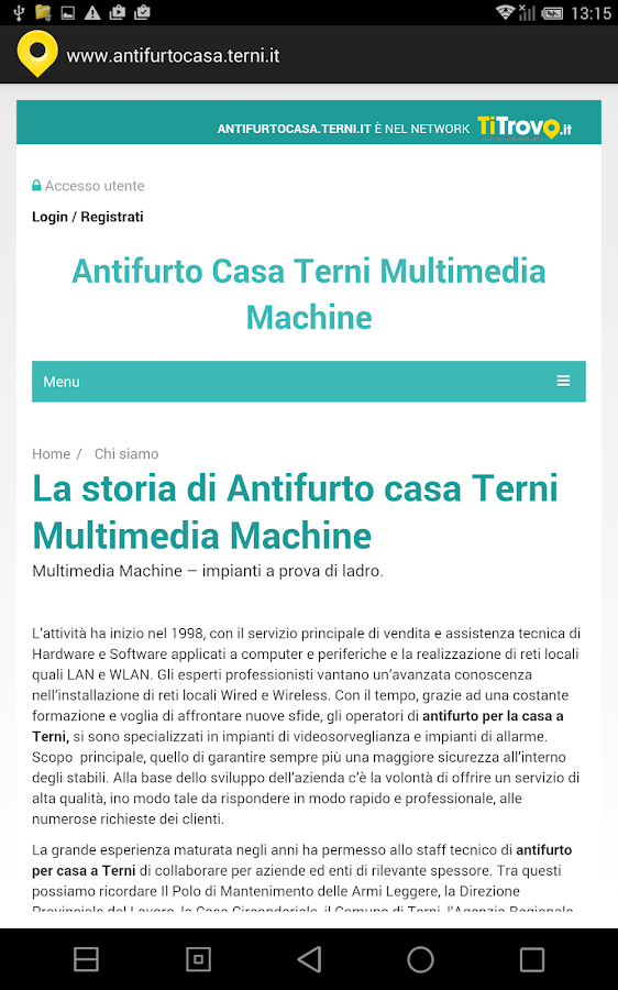Antifurto casa Terni - App Android su Google Play