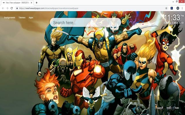 Marvel Comics Hd Wallpapers New Tab Theme
