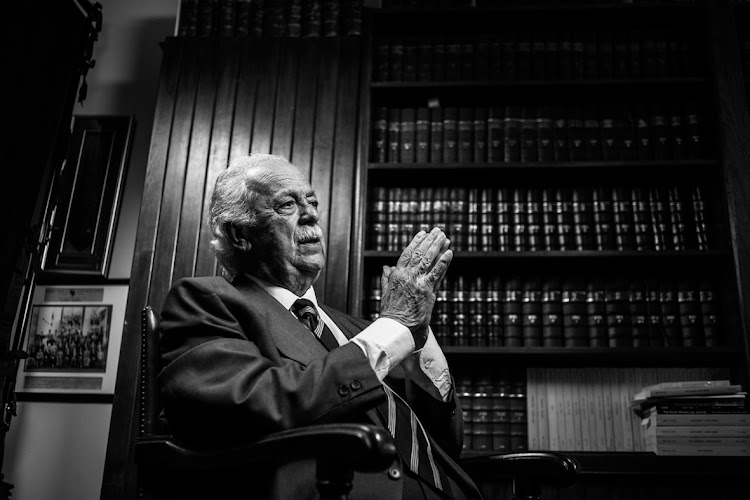 George Bizos during the photo shoot for the 21 Icons project in 2012.