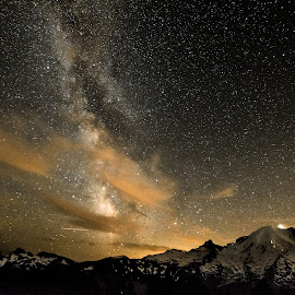 Stars and Mars by Dale Slater - Landscapes Starscapes ( mountains, milky way, planets, astrophotography, climbing )