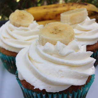 Banana Cupcakes with Whipcream Icing Recipe