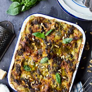 Green Bean, Potato & Pesto Lasagne