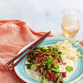 Lamb, Chinese Cabbage and Black Bean Stir Fry.