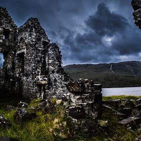 Calda House by Morag Soszka - Buildings & Architecture Public & Historical ( scotland, ardvreck castle, sutherland, calda house, lochinver, scottish landscape, ruins, castle )