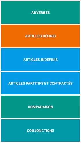 French Grammar Test Android App Screenshot