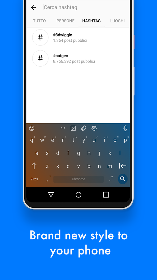 Chrooma Keyboard PRO - Color, GIF, Emoji & Themes– captura de ecrã