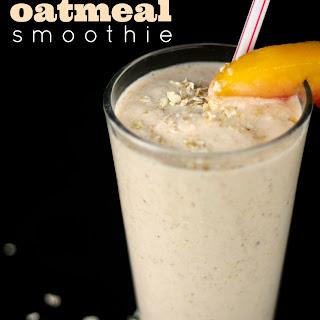 Peaches & Cream Oatmeal Smoothie.