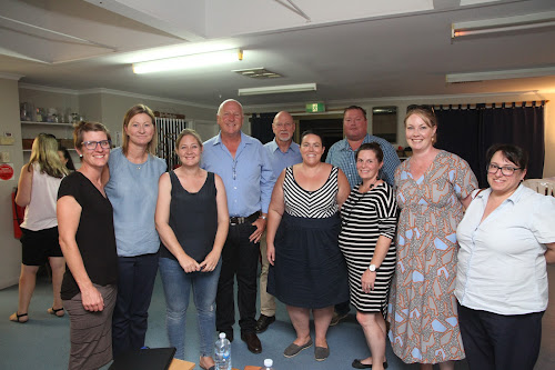 At Tuesday night's public meeting, Nurruby's secretary Nicole Gleeson-Lendon, president Kristen Greentree, treasurer Meredith Conaty, Narrabri Shire councillors Ron Campbell and Robert Kneale, board member Erin Barton, Deputy Mayor Cameron Staines, Nurruby board members Mareka Deacon and Ebonnie Whan and councillor Ann Loder.