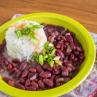 Pressure Cooker Red Beans and Rice.