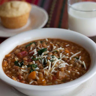 Lentil Orzo Soup.