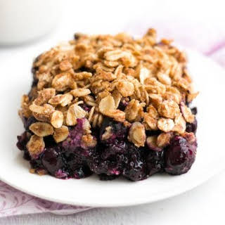 The Ultimate Healthy Blueberry Crumble.