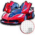 Car Vehicle Color By Number - Pixel Art icon