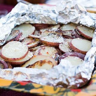 Foil-Pack Garlic-Parmesan Grilled Potatoes