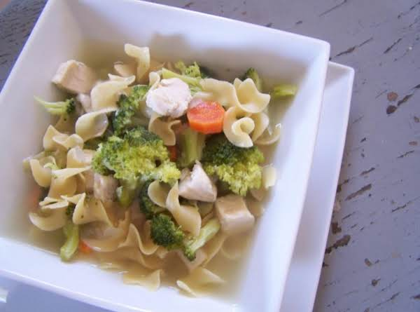 Chicken Broccoli Noodle Soup Recipe
