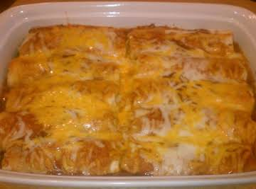 """Enchilada Night"" Beef & Cheese Enchiladas"