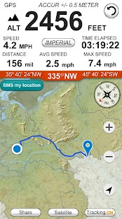 Altimeter GPS Hike Tracker - náhled