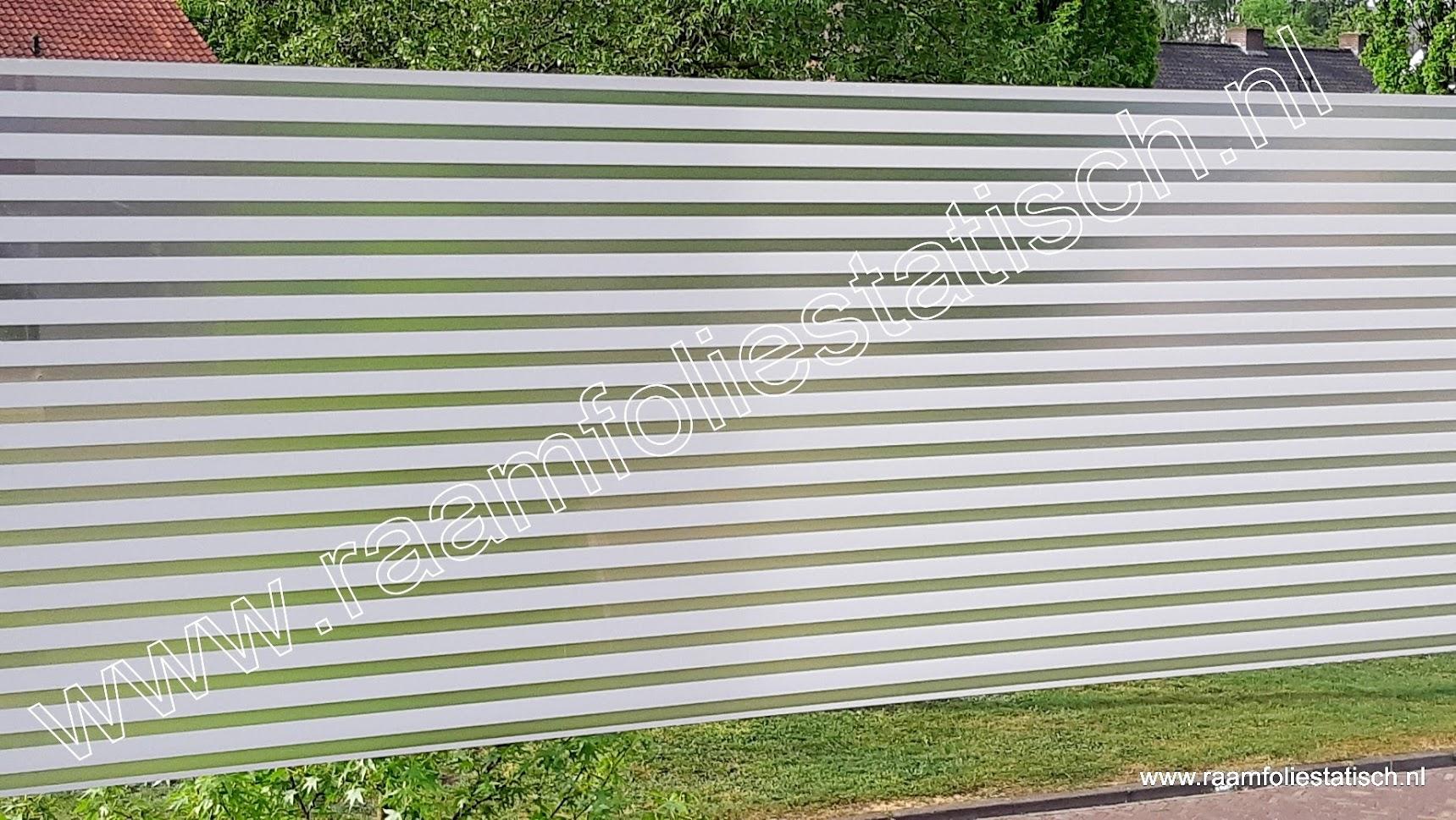 Statische raamfolie witte strepen mat 45cmx1,5m Linia