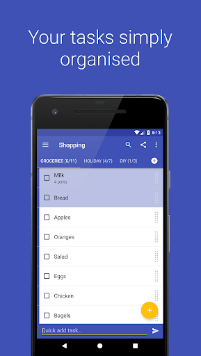 Screenshot for Tasks: Todo list, Task List, Reminder in United States Play Store