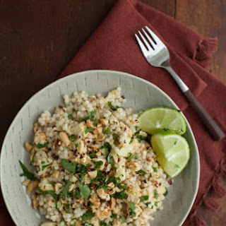 Thai Cauliflower with Pearl Couscous and Cilantro.