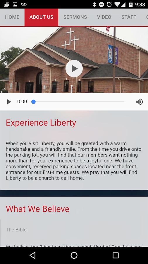 Liberty Baptist Church- screenshot